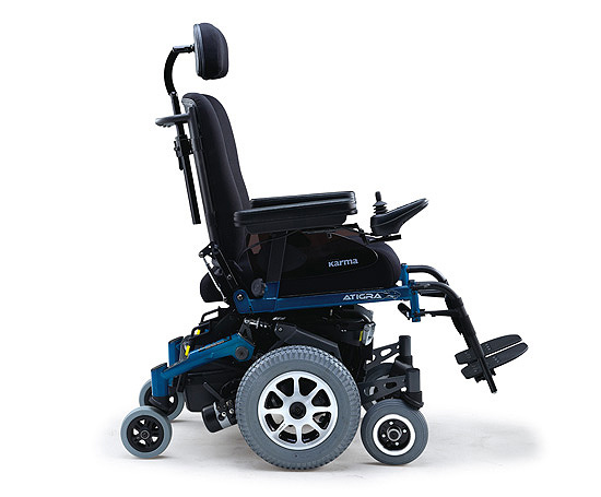 Atigra 1.1 power wheelchair side view