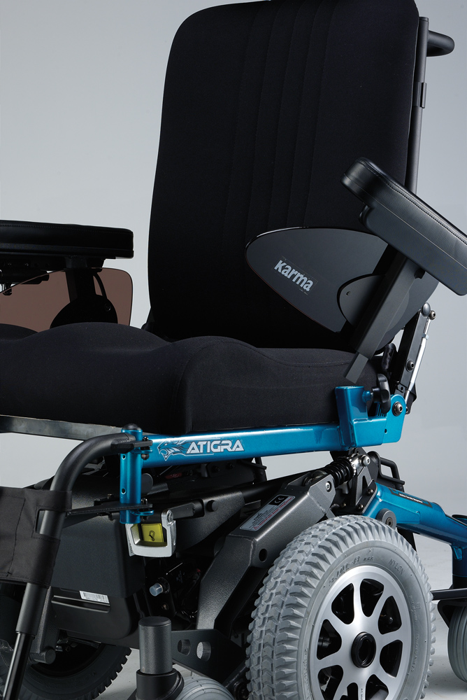Atigra 1.1 power wheelchair seating system