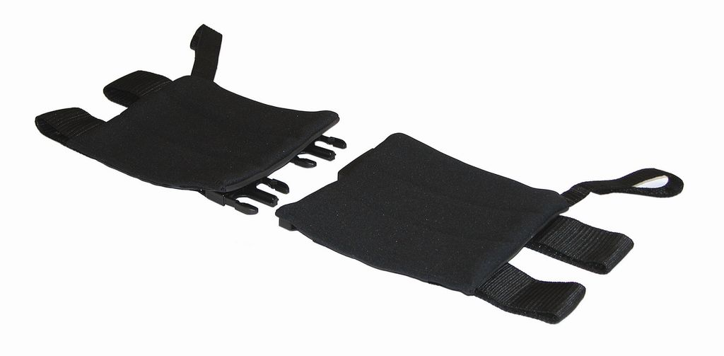Gel calf pad with centre release