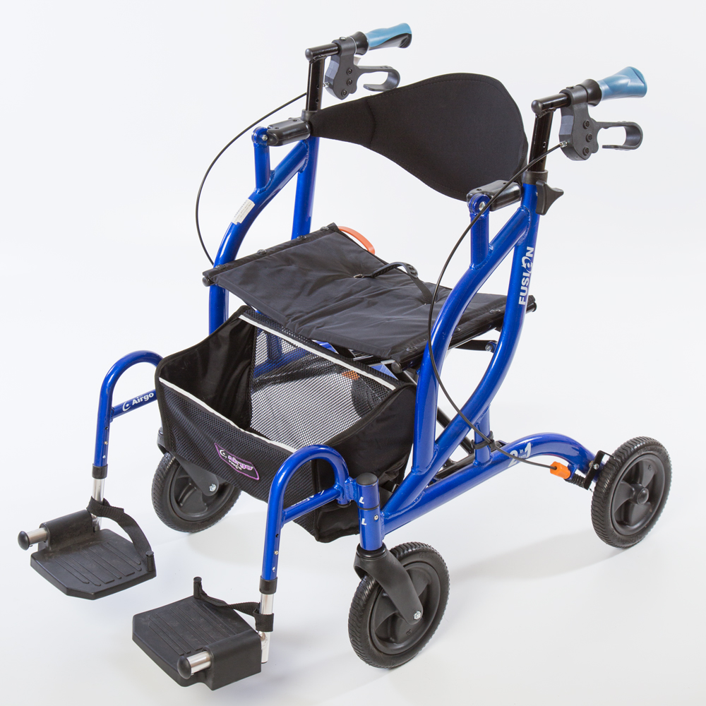 Airgo Fusion Side Folding Rollator Amp Transport Chair Ac