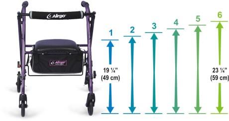 Airgo ultralight height adjustment