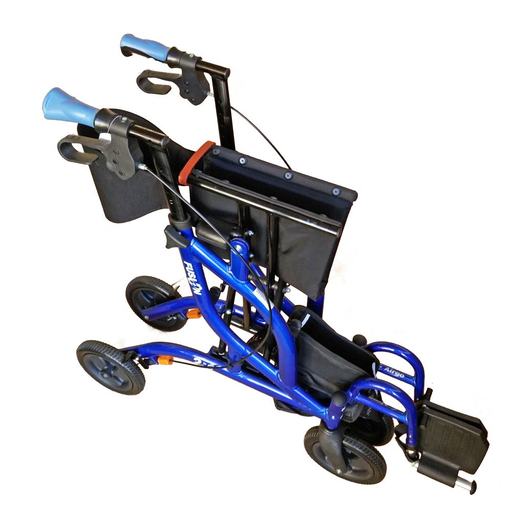 Airgo Fusion Side Folding Rollator Amp Transport Chair Ac