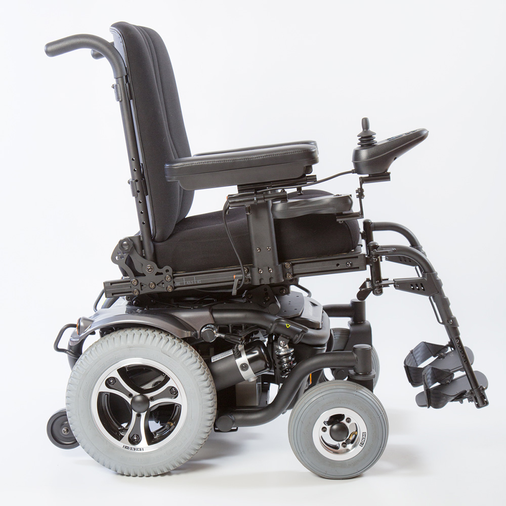 Traxx 3 power wheelchair right hand side view