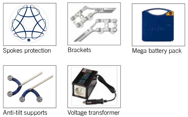 V-max power assist wheelchair accessories