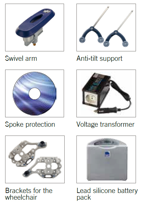 Accessories for wheelchairs
