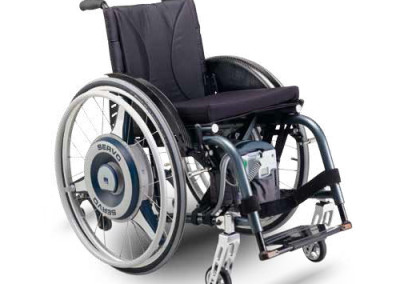 Servo power assist wheelchair device