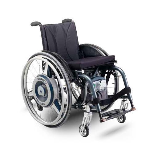 Servo power assist wheelchair device