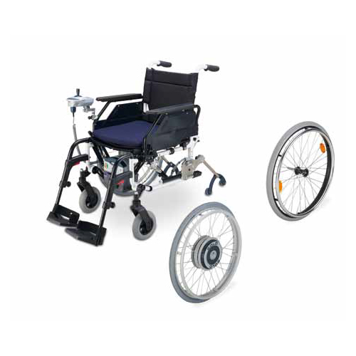 The SOLO wheelchair power assist device