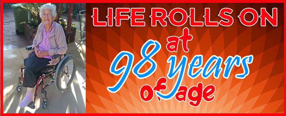 Life Rolls On At 98 Years Of Age In A Quickie Lite 2!