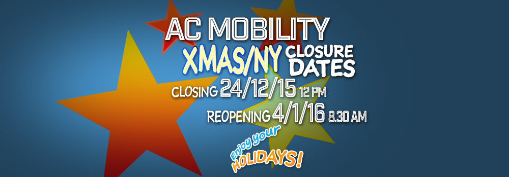 AC Mobility is Closed Between Christmas and New Year! Enjoy Your Break!