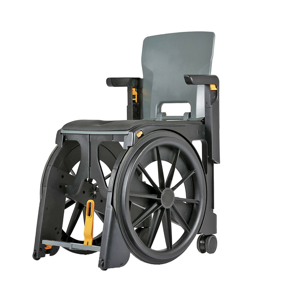 Wheelable Portable Commode And Shower Chair Collapsible