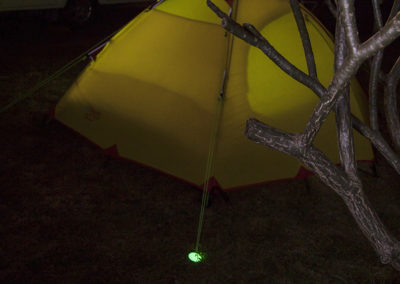 Tent glowing lighter