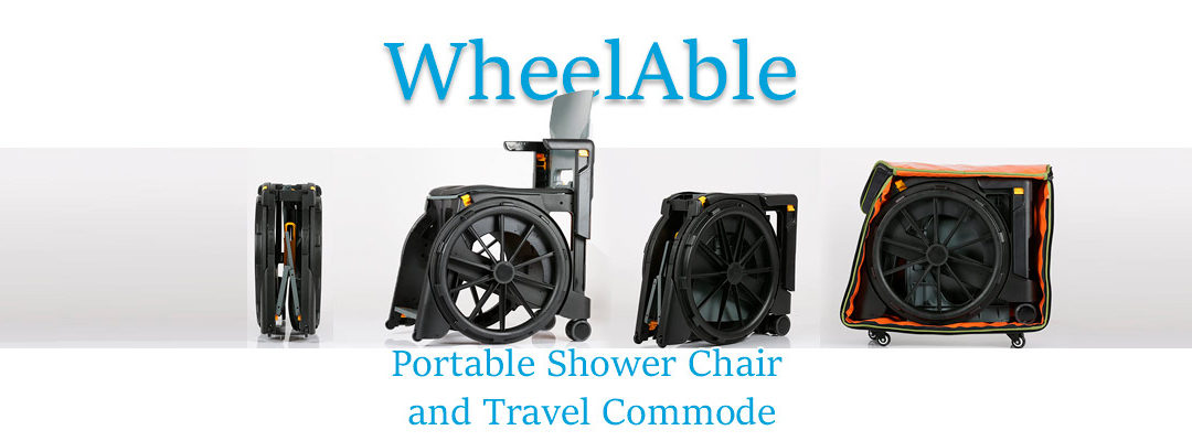 Wheelable Travel Shower Chair and Commode