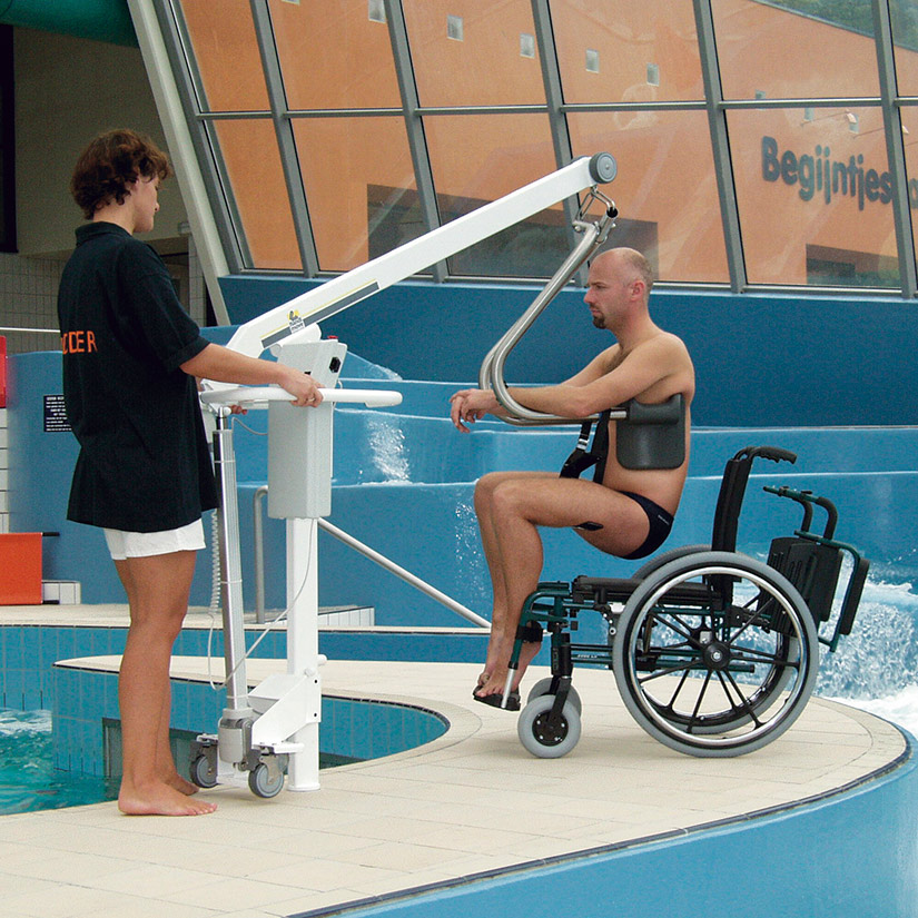 Handimove Mobile Pool Lift Move Easily From Wheelchair To Pool