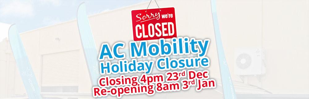 AC Mobility Christmas Closing Times