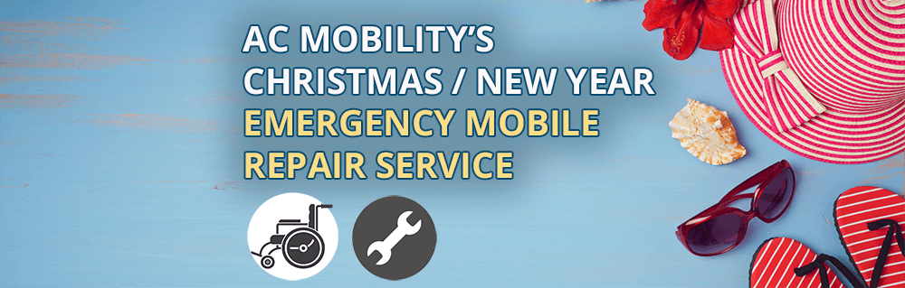 Christmas / New Year Emergency Mobile Repair Service for Wheelchairs & Mobility Equipment