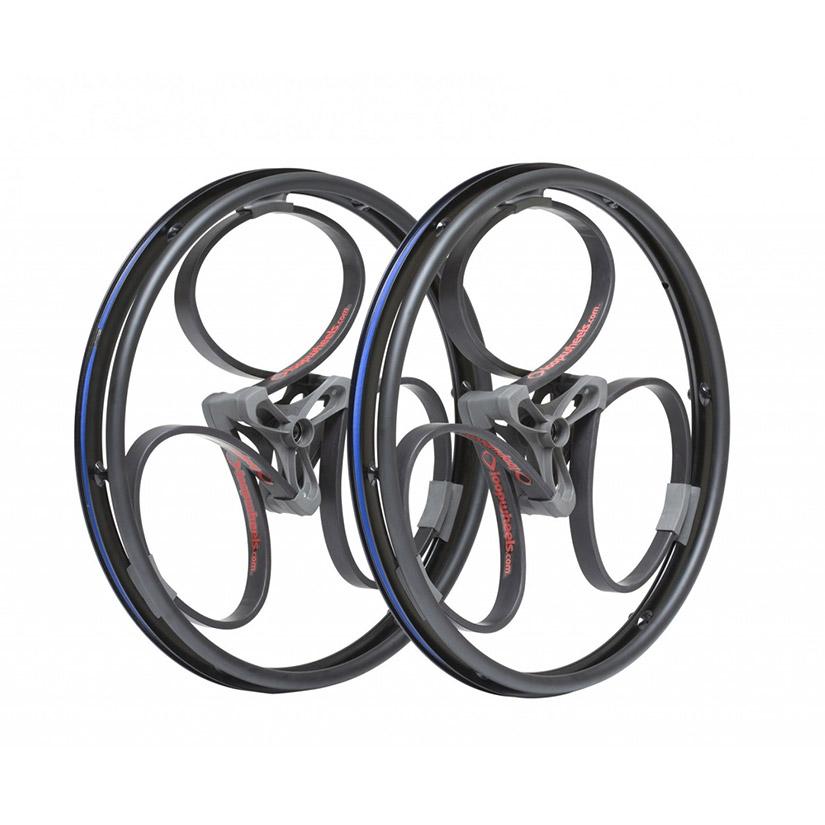 loopwheels Suspension Wheels For Wheelchairs BLACK