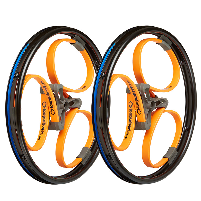 loopwheels Suspension Wheels For Wheelchairs In Bright Colours