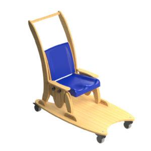 juni chair mobile dolly base & push handle