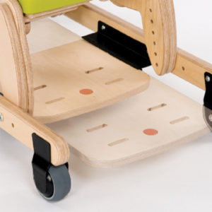 juni chair sliding footrest (for use with mobile skis)
