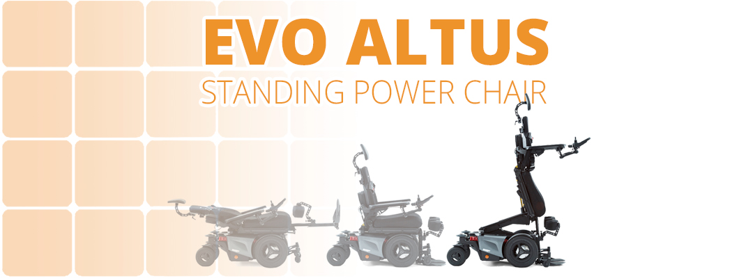 EVO Altus Standing Power Chair – Sit, Stand or Recline!