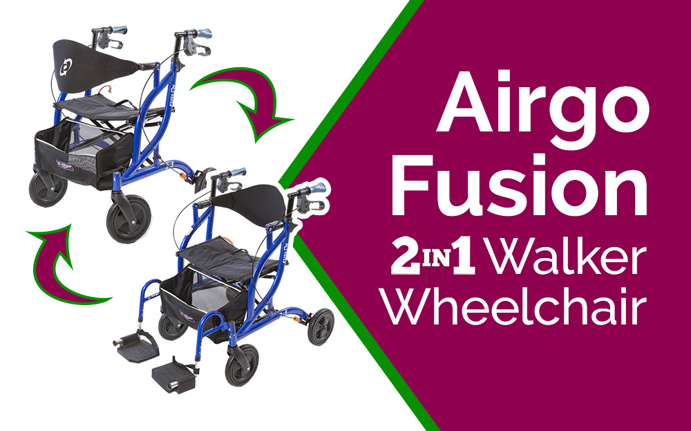 Airgo Fusion Walker Wheelchair – 2-in-1