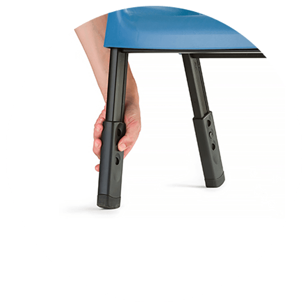Rifton Compass Chair leg height adjustable