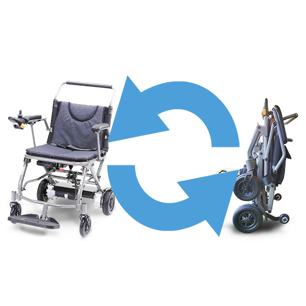 Fold and Go P113 Fold and Go P113 foldable electric wheelchair portable battery easy to fold