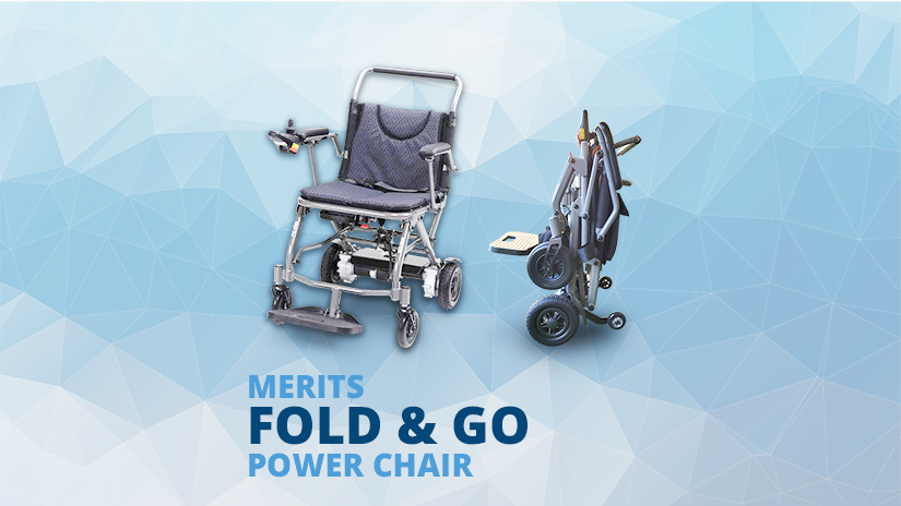 Fold & Go Foldable Electric Wheelchair