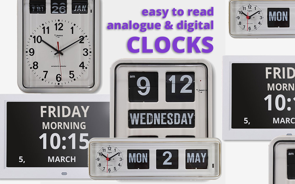 Easy to read clocks